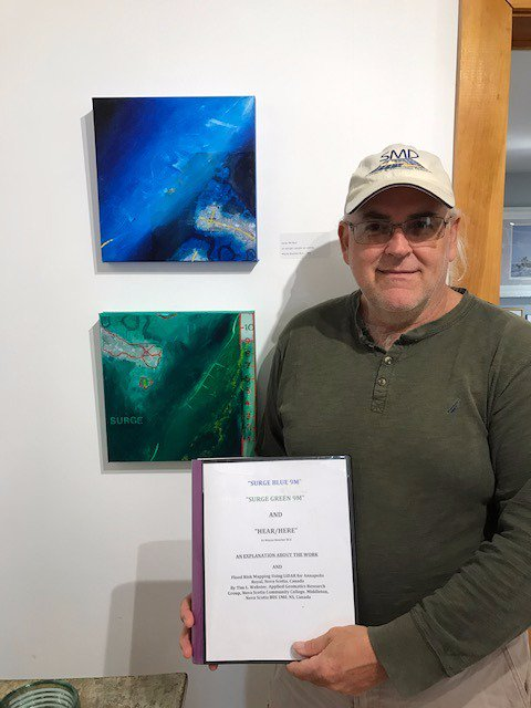 Dr, Tim Webster at the Storm Warnings art show