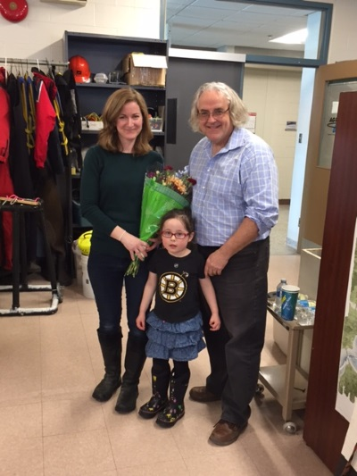 Kate Collins and daughter (Maia) with Dr. Webster